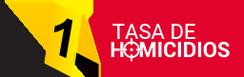 Logo tasa de homicidios